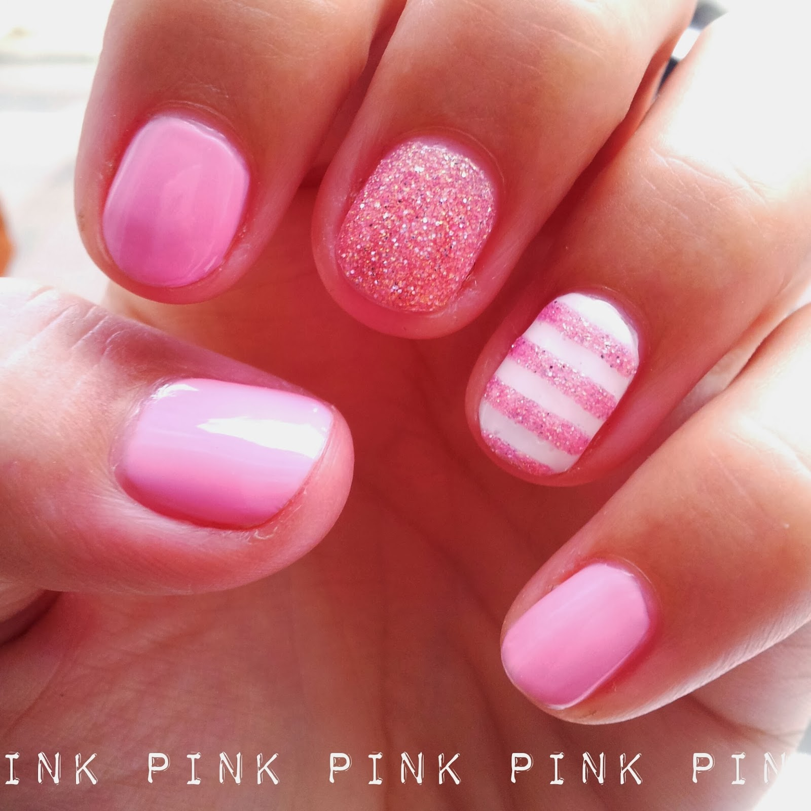 Dahlia Nails: Breast Cancer Awareness Month Mani