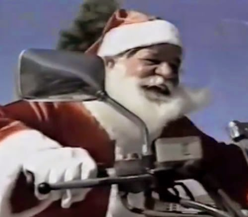 Campanha do Papai Noel de Agosto da rede varejista Onogás, nos anos 80.