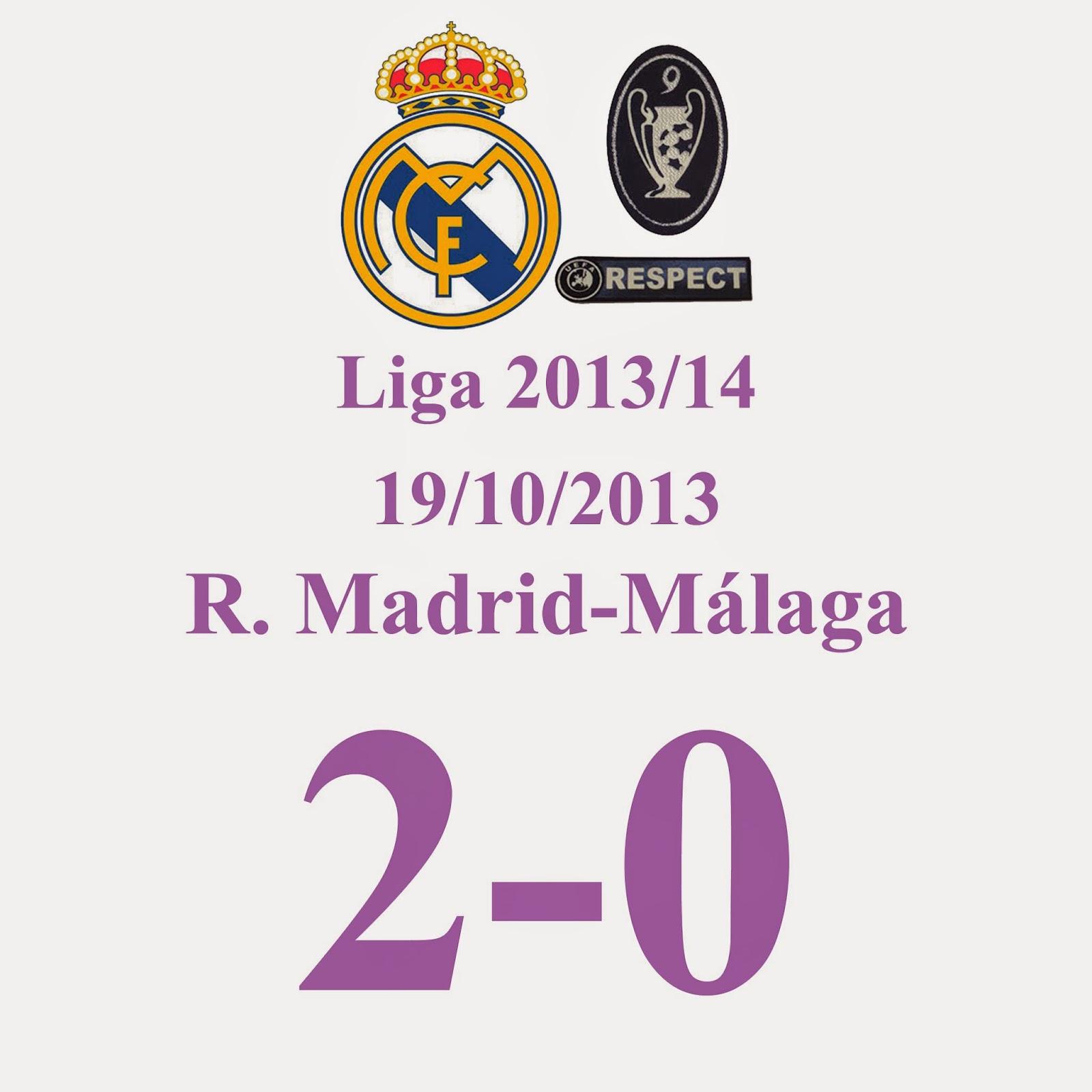 Real Madrid 2 - Málaga 0 - (Jornada 9) 19/10/13.