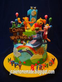 Winnie the Pooh Birthday Cakes for Boys