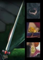 Gli oggetti dei 4 fondatori di Hogwarts: la Spada di Grifondoro, il Diadema di Corvonero, la Coppa di Tassorosso e il Medaglione di Serpeverde