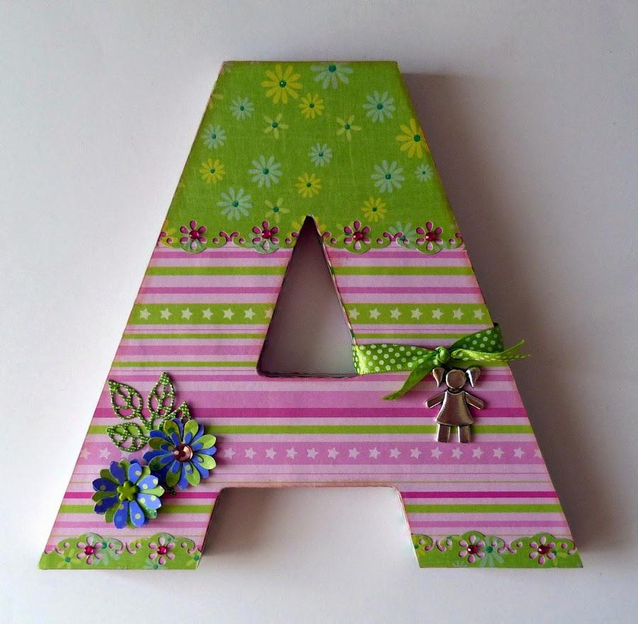 Letras con flores - Letras decoradas infantiles ...