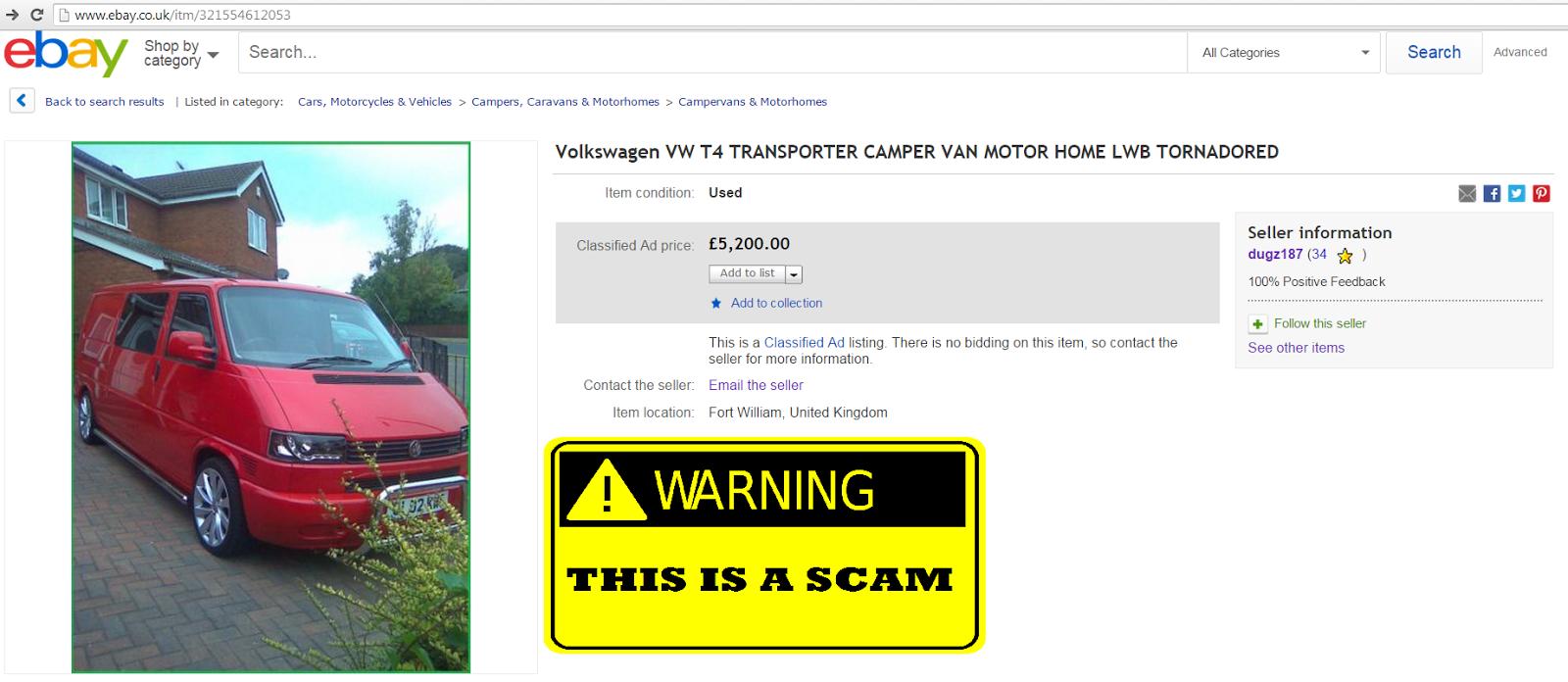 5200 scam volkswagen vw t4 transporter camper van motor home lwb ...