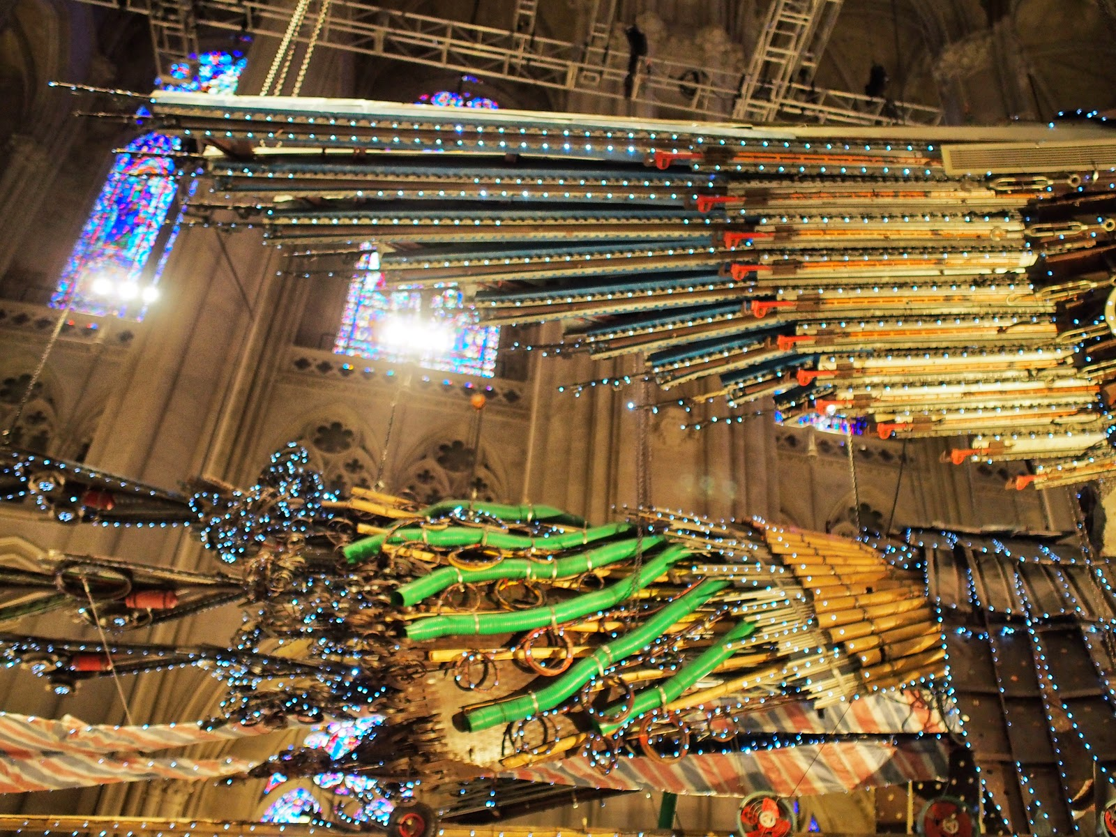 Feathering #feathering #phoenix  #xubing #stjohnthedivinecathedral #art #nyc ©2014 Nancy Lundebjerg