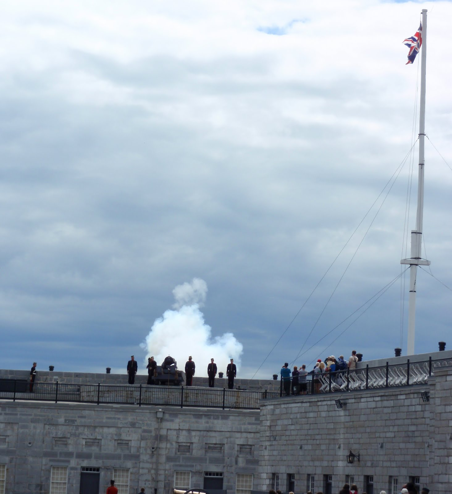 Firing of the canon
