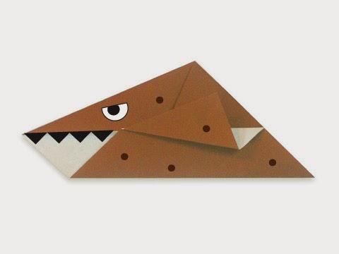 Hướng dẫn cách gấp con thằn lằn biển Kronosaurus bằng giấy đơn giản - Xếp hình Origami với Video clip