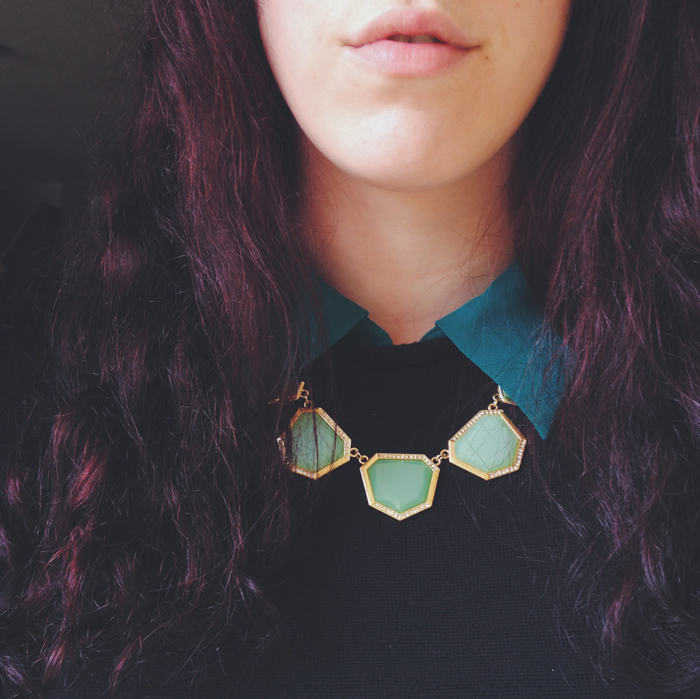 necklace collar ootd