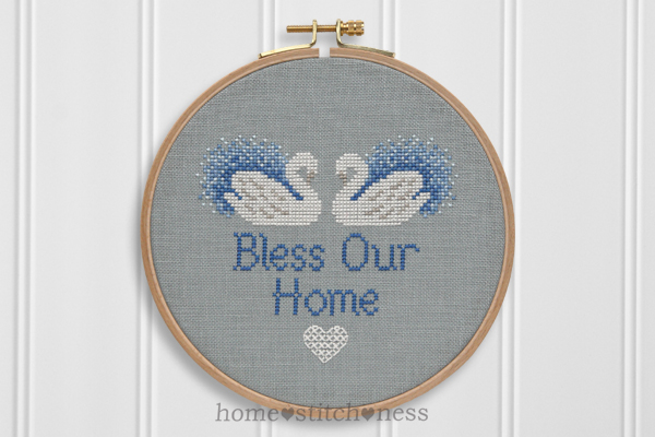 Bless Our Home cross stitch design by homestitchness