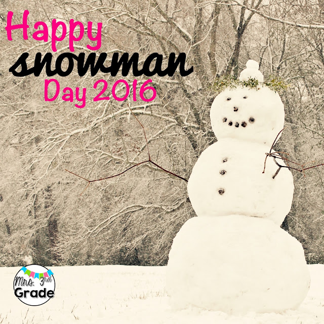 Snowman day filled with fun math, writing and reading activities!