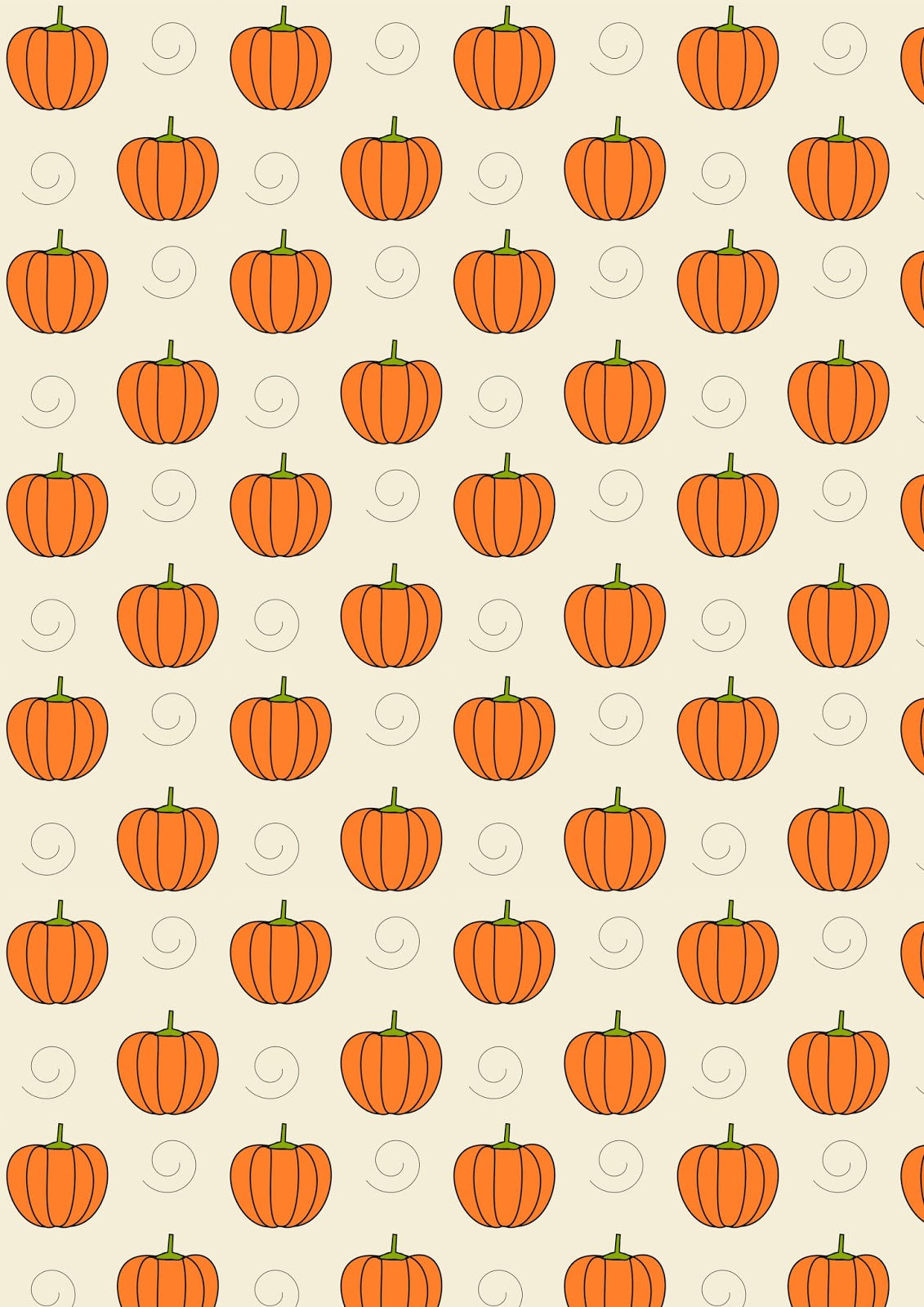 Free digital pu... Pumpkin Pattern Free