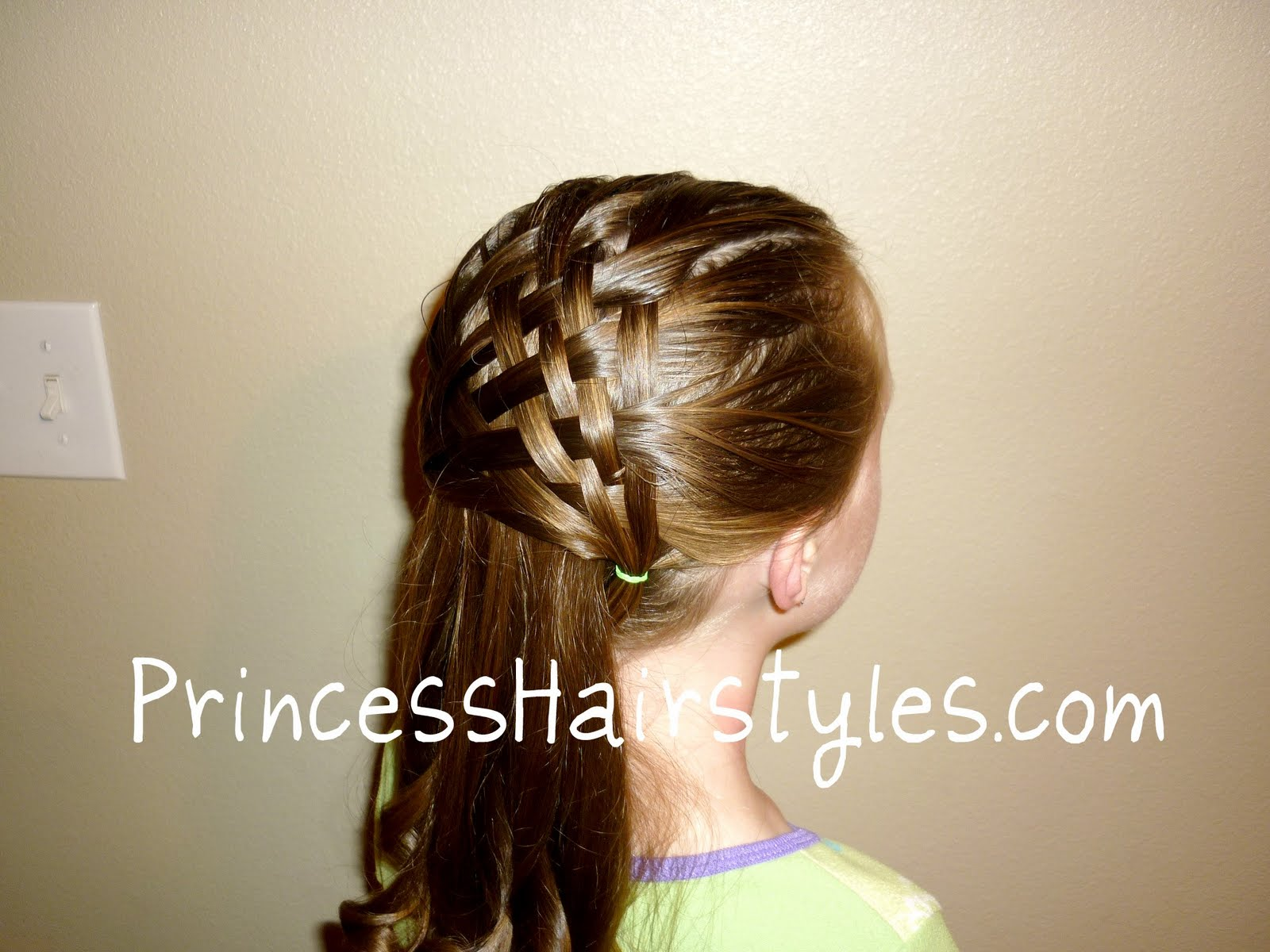 How To Make A Basket Weave Hairstyle : Basket weave hair style