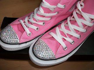 Pink Crystalised Converse, Converse All Star, Pink Converse