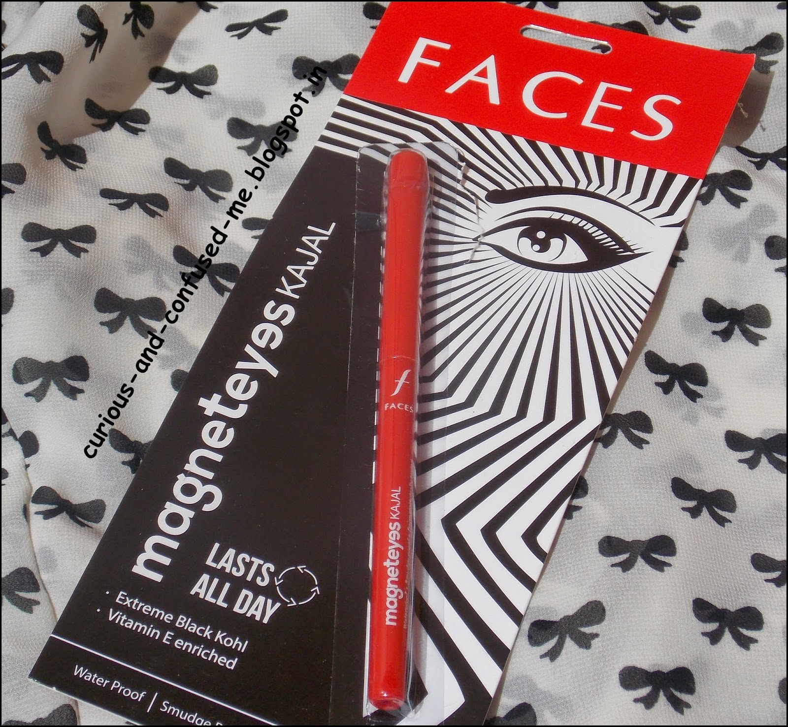 Faces Magnet eyes Kajal review, Faces Magnet eyes Kajal swatch, Kajals under 200 India, Best Kajals India, Longlasting kajal under 200 India, Faces Kajal india review, India kajal