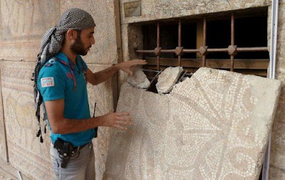 Ancient mosaics of The Odyssey stolen from Syrian museum