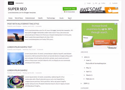 Super SEO Blogger template