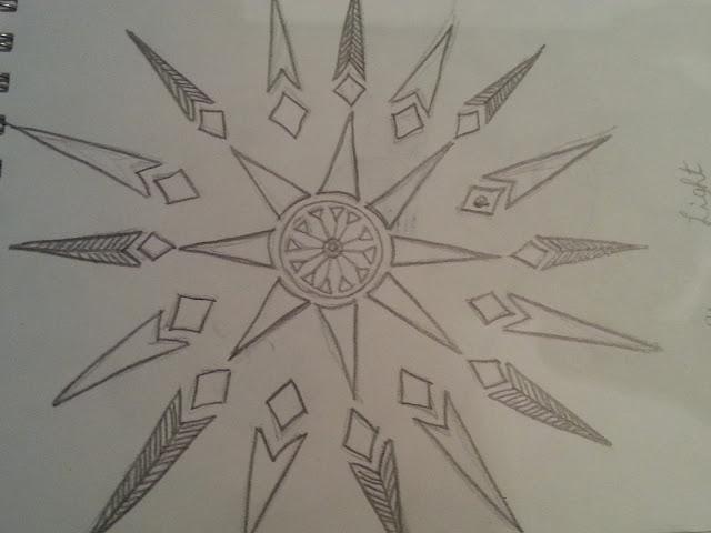 Starburst doodle