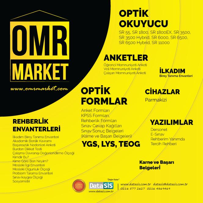 Eğitim'e dair herşey, OMR Market'te!
