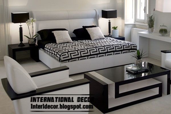 Black and white bedrooms designs paint furniture for Modern black and white furniture