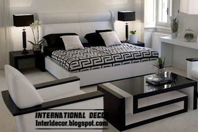 modern bedroom in black and white furniture and paint decorations black and white bedrooms designs, paint, furniture, accessories