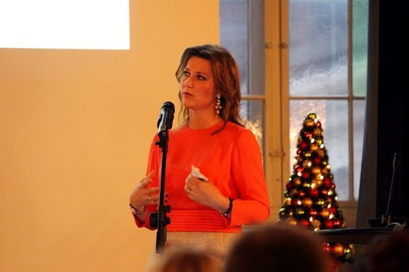Princess Martha Louise of Norway attends a conference celebrating of the 100th anniversary of the Norwegian Equestrian Federation at Oslo Military Society