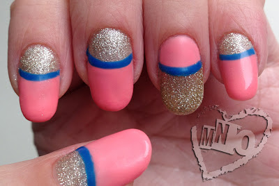 Stripe Gel Nail Design Trophy Cup Mild East Laquee Rette