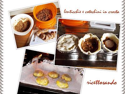 Lenticchie e cotechini in crosta ricetta di riciclo ed ottimo fingerfood