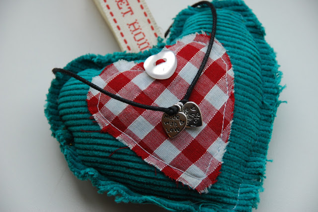 image of home made heart and bracelet