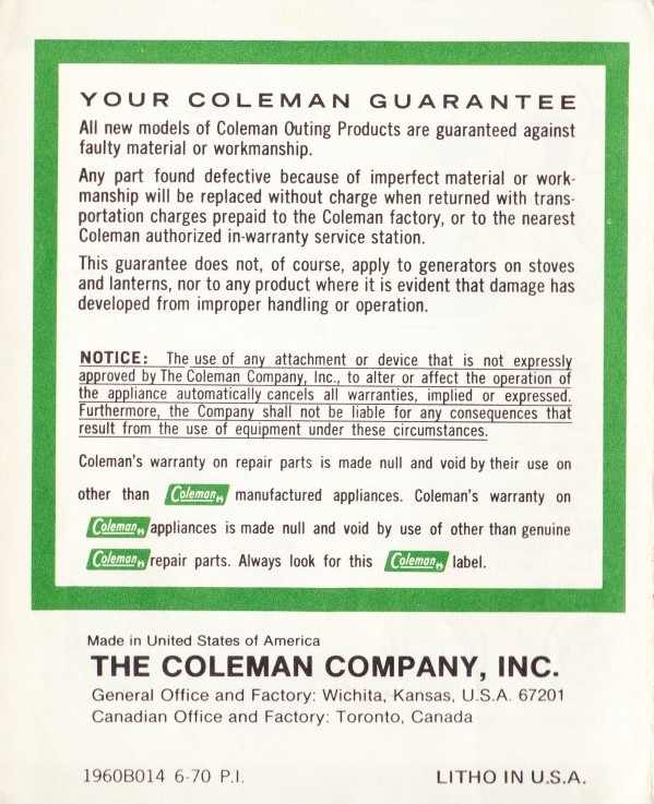 coleman camp stove instructions