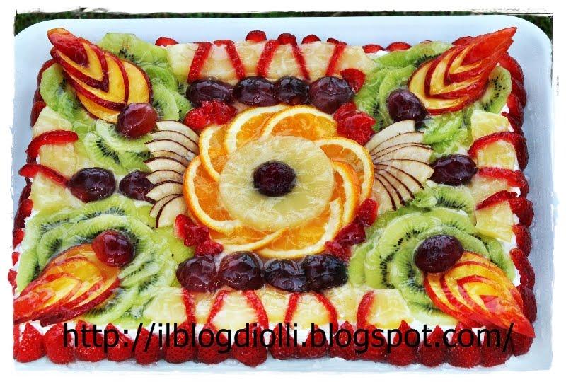 In cucina da olly torta con frutta for Decorazioni torte frutta e panna