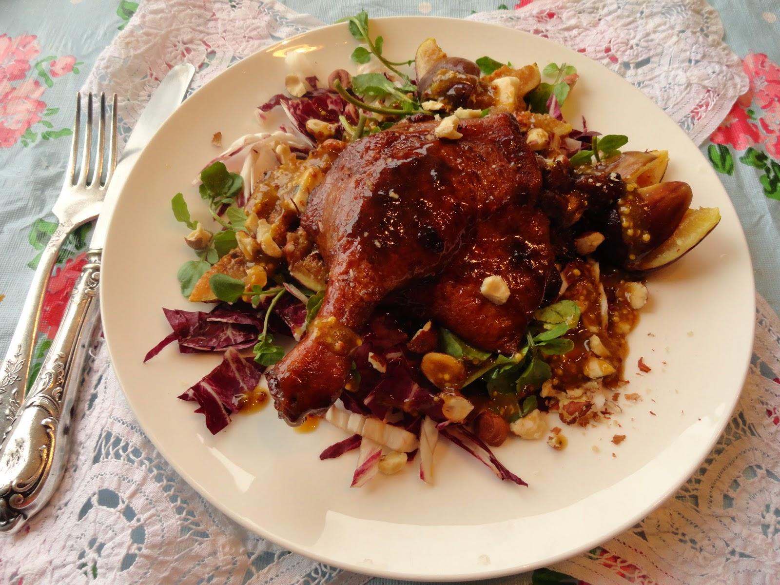 delicious duck+figs salad