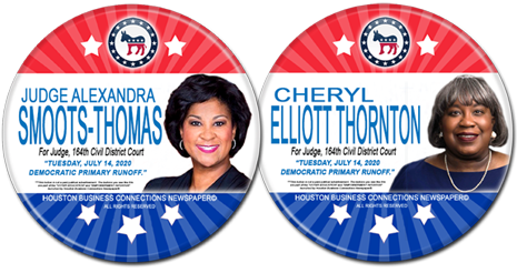 Judge Smoots Thomas and Cheryl Thornton are Runoff Candidates for Judge, 164th District Court