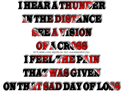 My Own Prison - Creed Song Lyric Quote in Text Image