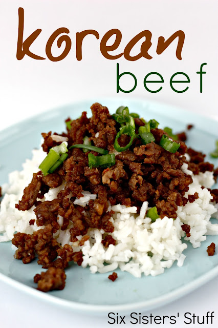 Korean beef and rice recipe six sisters stuff philly cheesesteak sloppy joes korean beef from sixsistersstuff forumfinder Choice Image