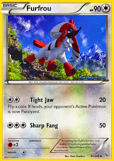 Furfrou Flashfire Pokemon Card