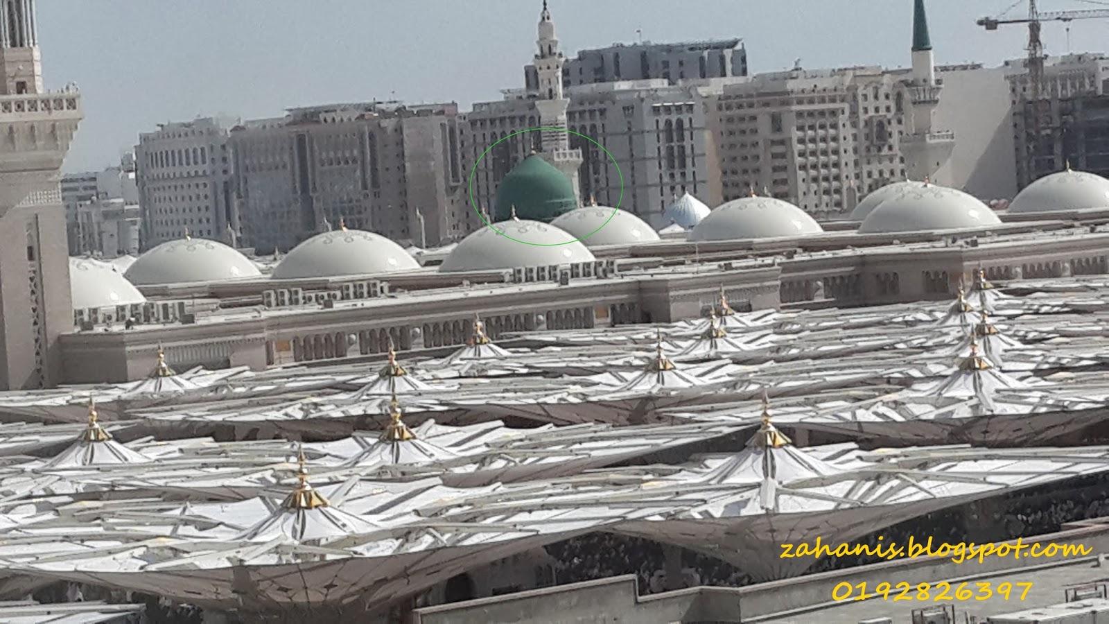 masjid nabawi dan kubah hijau