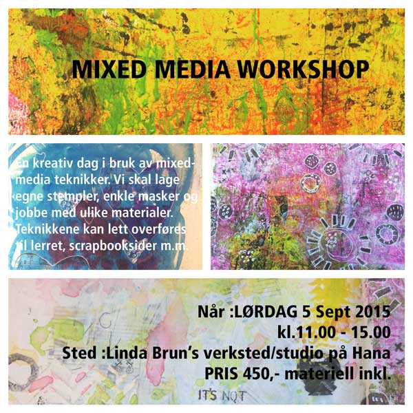 Mixedmedia workshop  i Sandnes