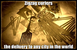 Zigzag curlers the delivery to any city in the world