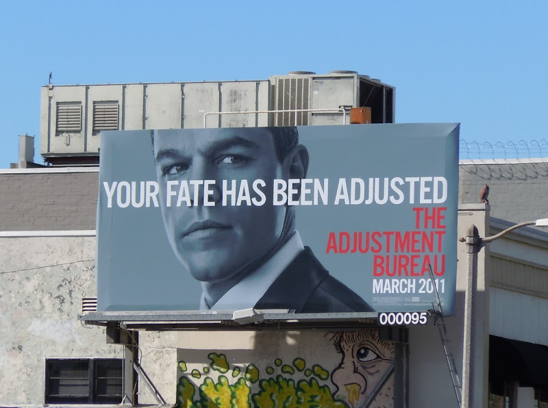 Adjustment Bureau Fate billboard