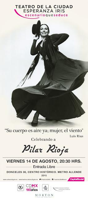 Celebrarán la trayectoria de Pilar Rioja en el Teatro de la Ciudad Esperanza Iris