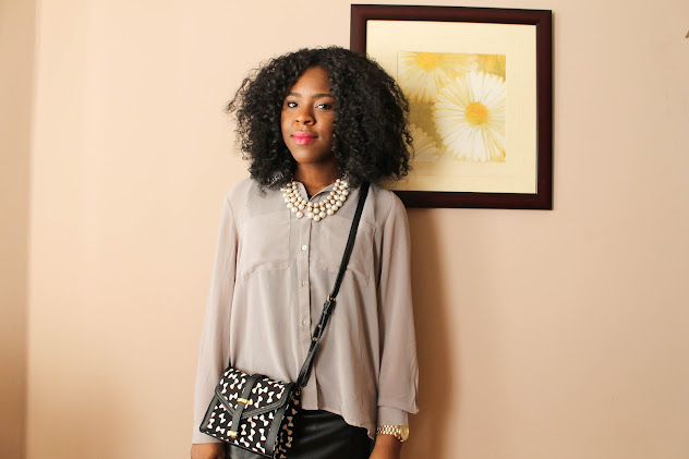Fashion Blogger Personal Style: leather skirt