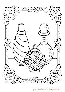 Botellas de perfume para colorear
