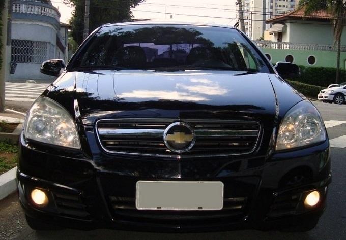 Chevrolet Vectra Elite 2.4 flex preto - frente