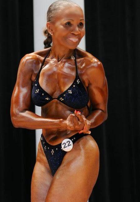 Celebrities and bodybuilding photos: Oldest Female Bodybuilder