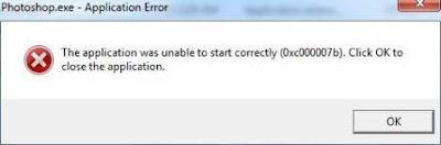 Gagal Instal Muncul Error 0xc000007B