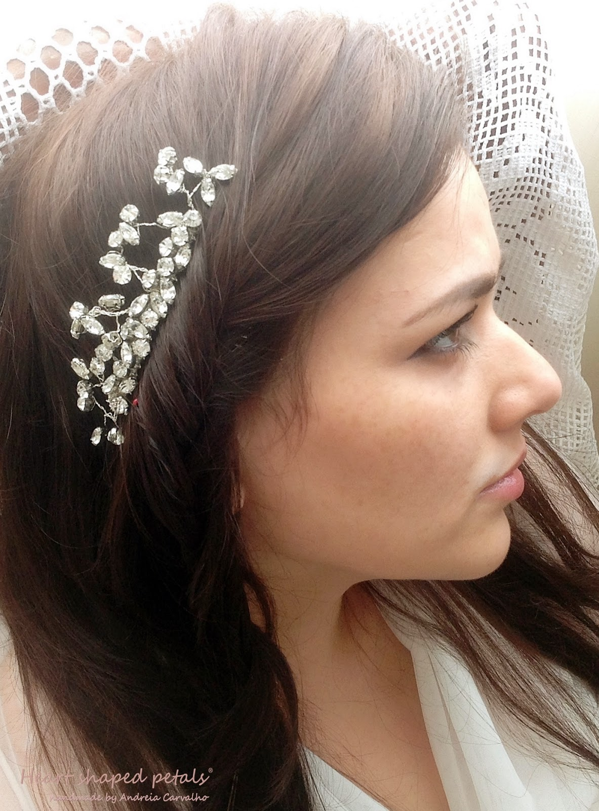 Rhinestone comb bridal hair accessory
