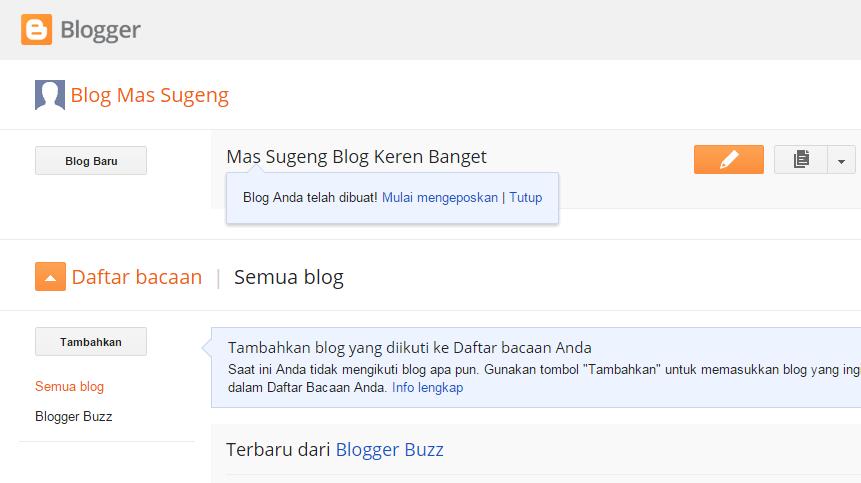 Blog sudah jadi