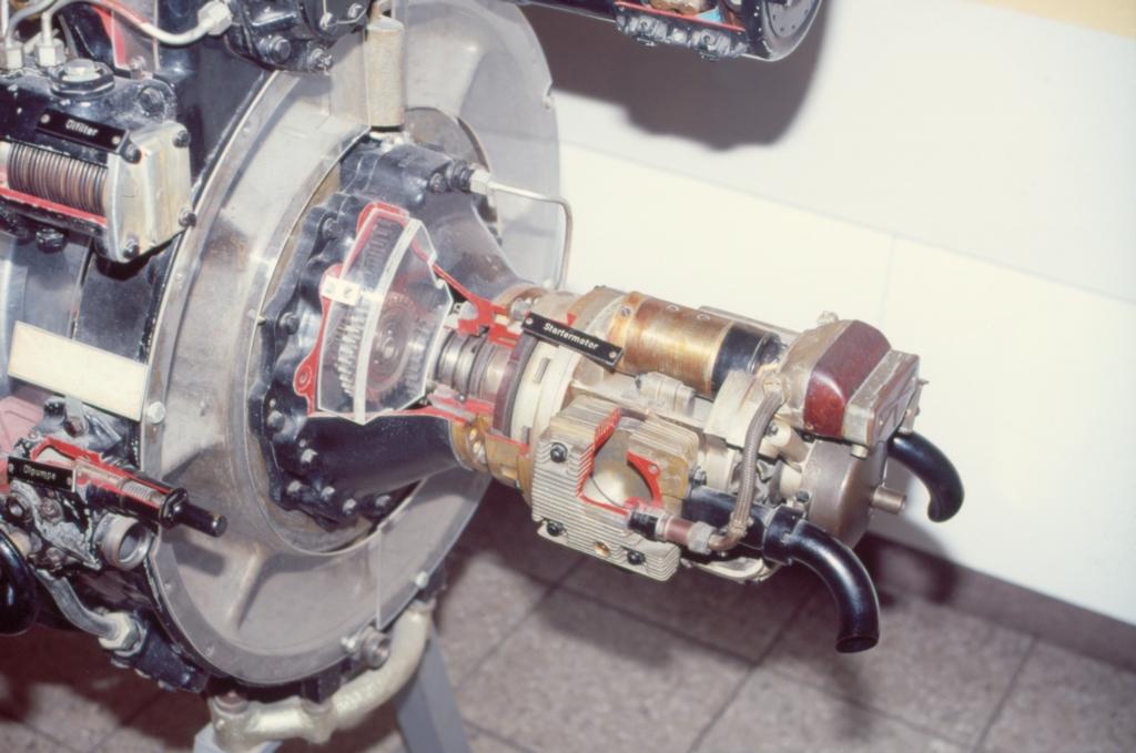 Riedel Anlassermotor Junkers Jumo 004 Cutaway