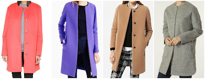 In my opinion J. Crew has some of the best wool winter coats out there, but they are usually more than I want to spend (unless I find an amazing sale - it can happen). I searched though this year's collarless coats and found one from J. Crew for $350 and three similar coats for under $130. Can you guess which one is the J. Crew coat? Click the links below to see if you are correct!