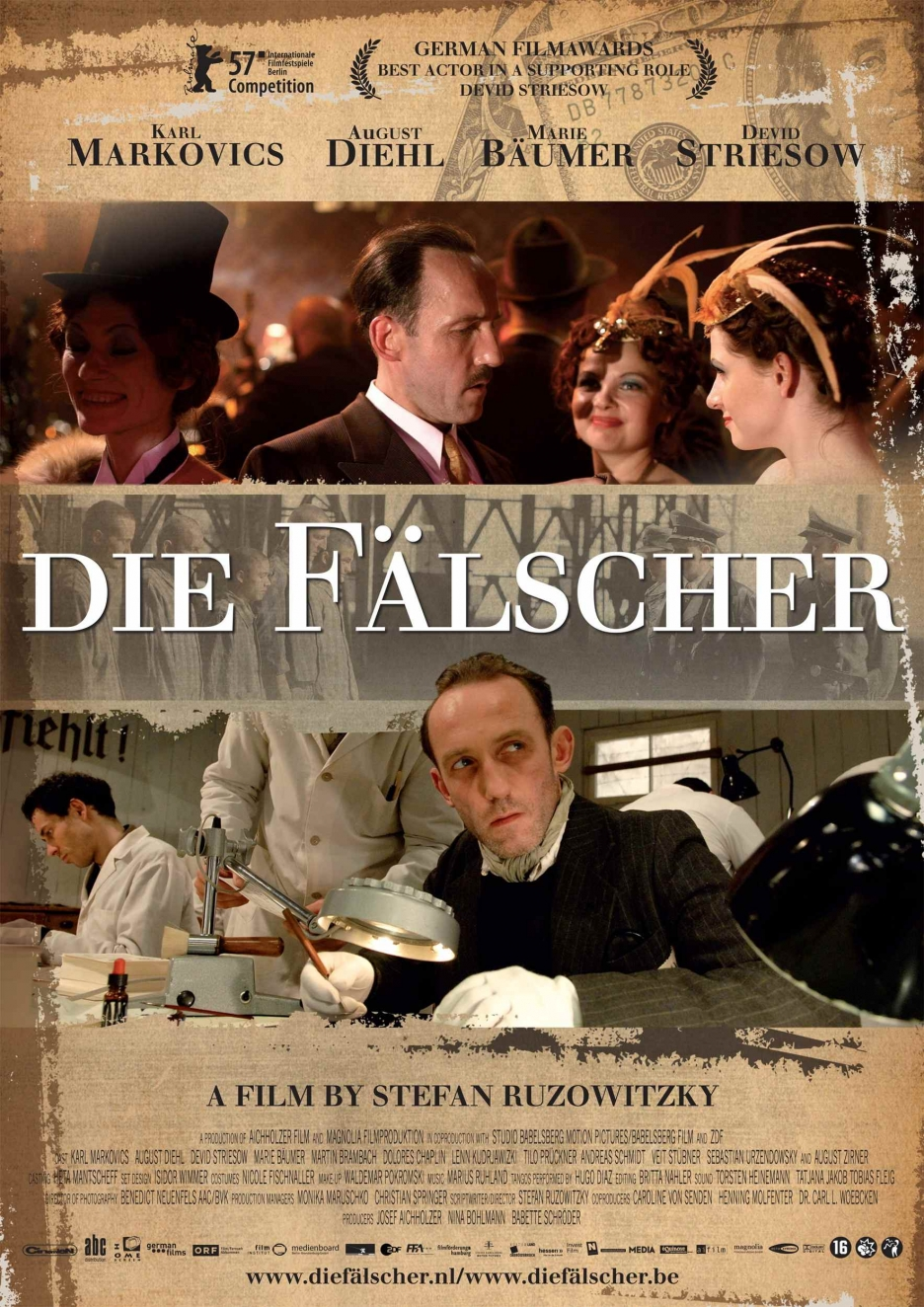 the counterfeiters On sunday the counterfeiters, based on the memoirs of prague resident adolf  burger, won the academy award for best foreign language film.
