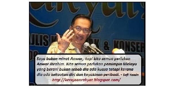 Kita semua perlukan Anwar Ibrahim ~ Sofi, Kerajaan Rakyat